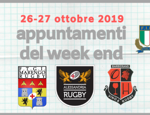 Appuntamenti del Week End – 26-27 Ottobre 2019