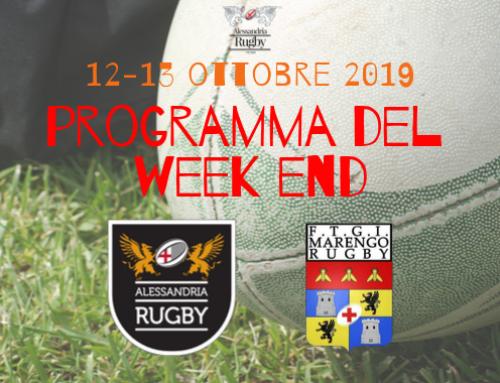 Programma del week end 12-13 Ottobre 2019