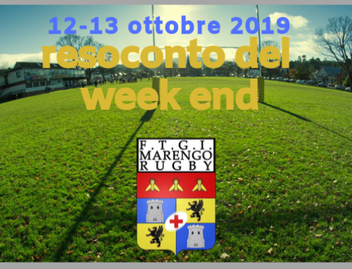 F.T.G.I. Marengo Rugby nel week end 12-13 Ottobre 2019