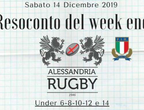 Resoconto del Week End 14-15 Dicembre 2019